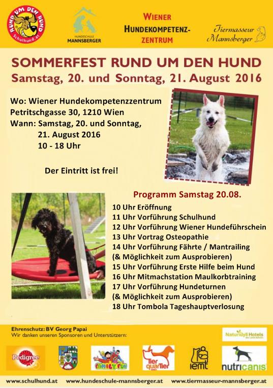 Sommerfest Samstag Programm